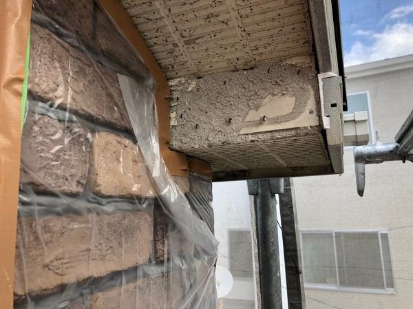 神奈川県秦野市 外壁塗装 軒天補修 コーキング(シーリング)工事 事前調査