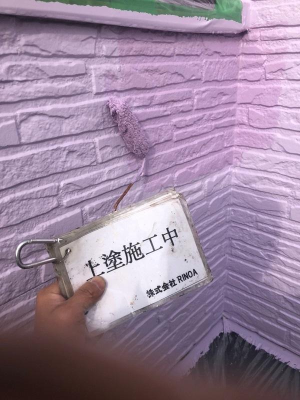 神奈川県伊勢原市 外壁塗装 屋根塗装 中塗り、上塗り3
