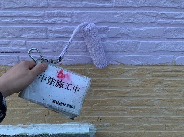 神奈川県伊勢原市 外壁塗装 屋根塗装 中塗り、上塗り (2)