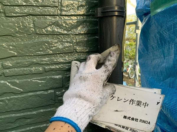 神奈川県伊勢原市 外壁塗装 屋根塗装 雨樋塗装 ケレン作業 (1)