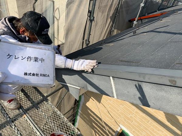 神奈川県伊勢原市 外壁塗装 屋根塗装 下地処理 ケレン作業 (1)