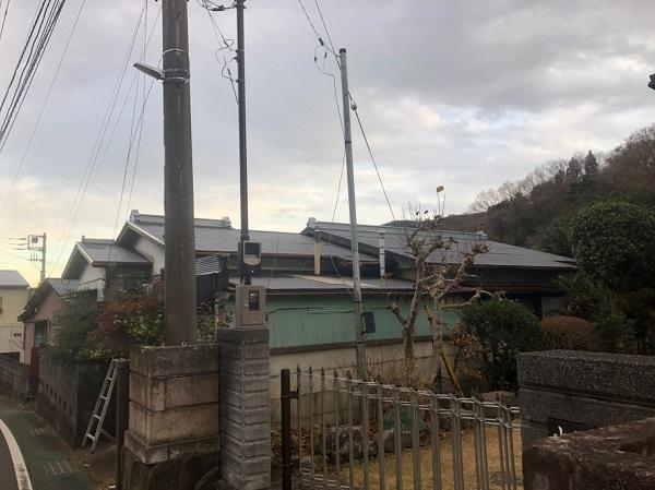 神奈川県平塚市 屋根塗装 トタン屋根 中塗り 上塗り ロックペイン ユメロックルーフ (7)