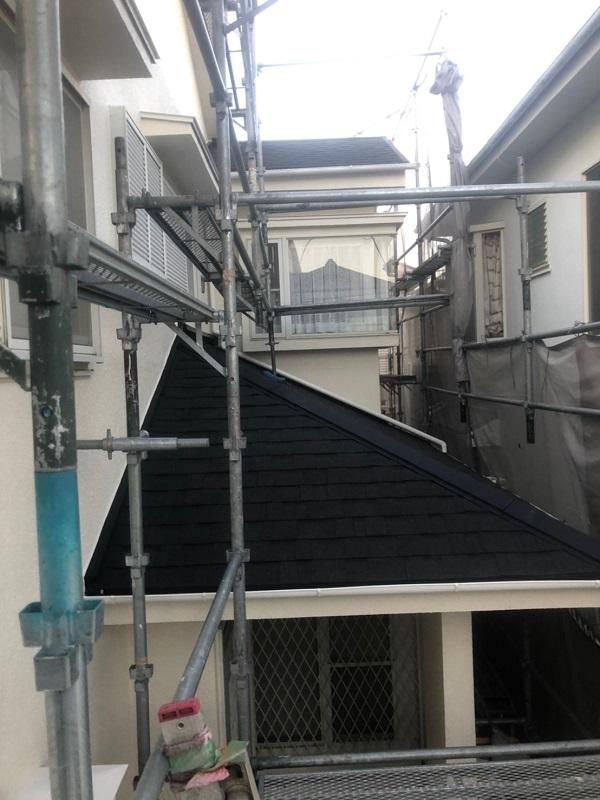 神奈川県伊勢原市 屋根葺き替え工事 外壁塗装 付帯部塗装 近隣の方へのご挨拶 足場設置