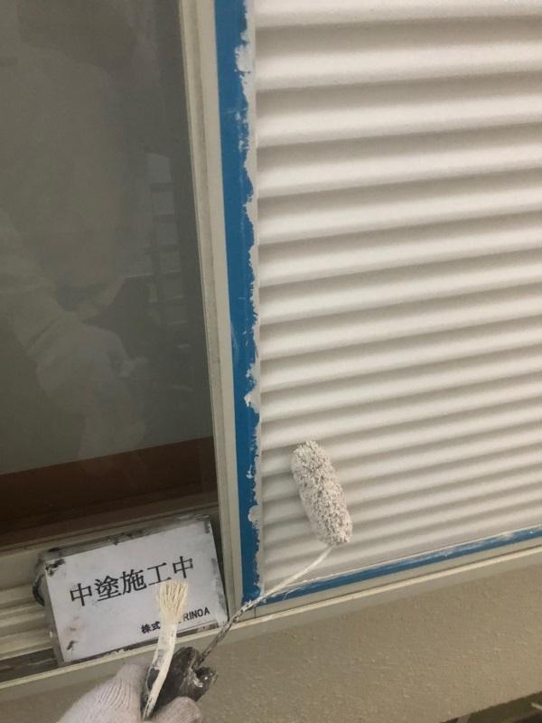神奈川県伊勢原市 屋根葺き替え工事 外壁塗装 付帯部塗装 付帯部中塗り・上塗り (9)