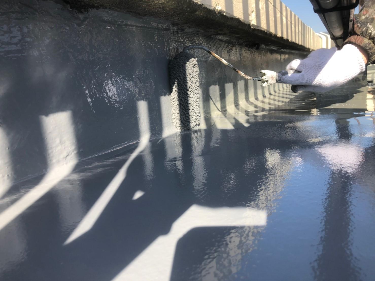神奈川県 伊勢原市 防水工事 防水塗料塗布の写真