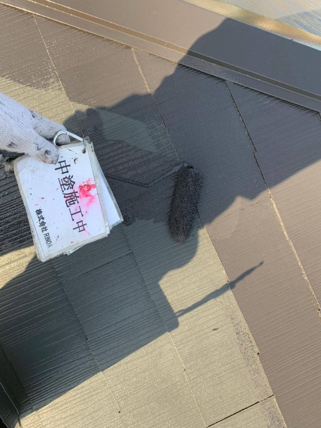 神奈川県秦野市屋根塗装工事 屋根塗装の画像