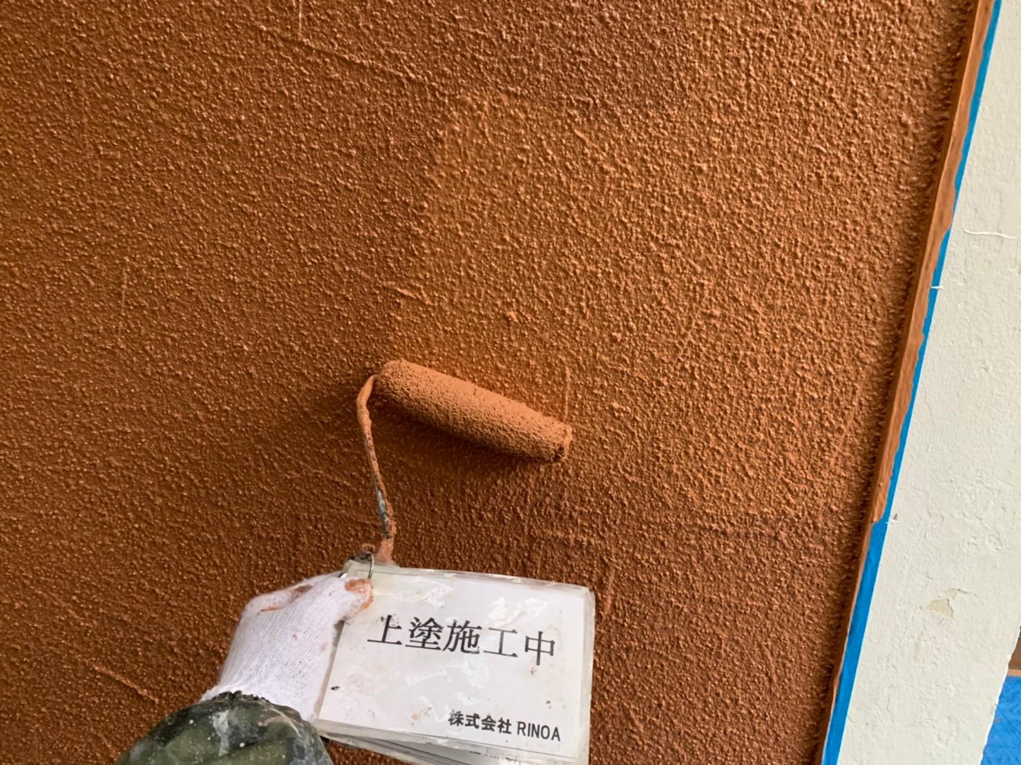 神奈川県秦野市外壁塗装 上塗りの画像