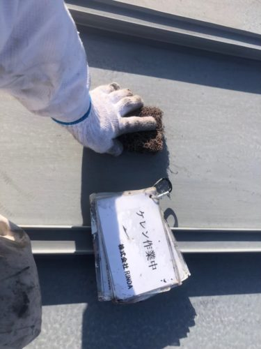 瓦棒屋根下地処理の画像