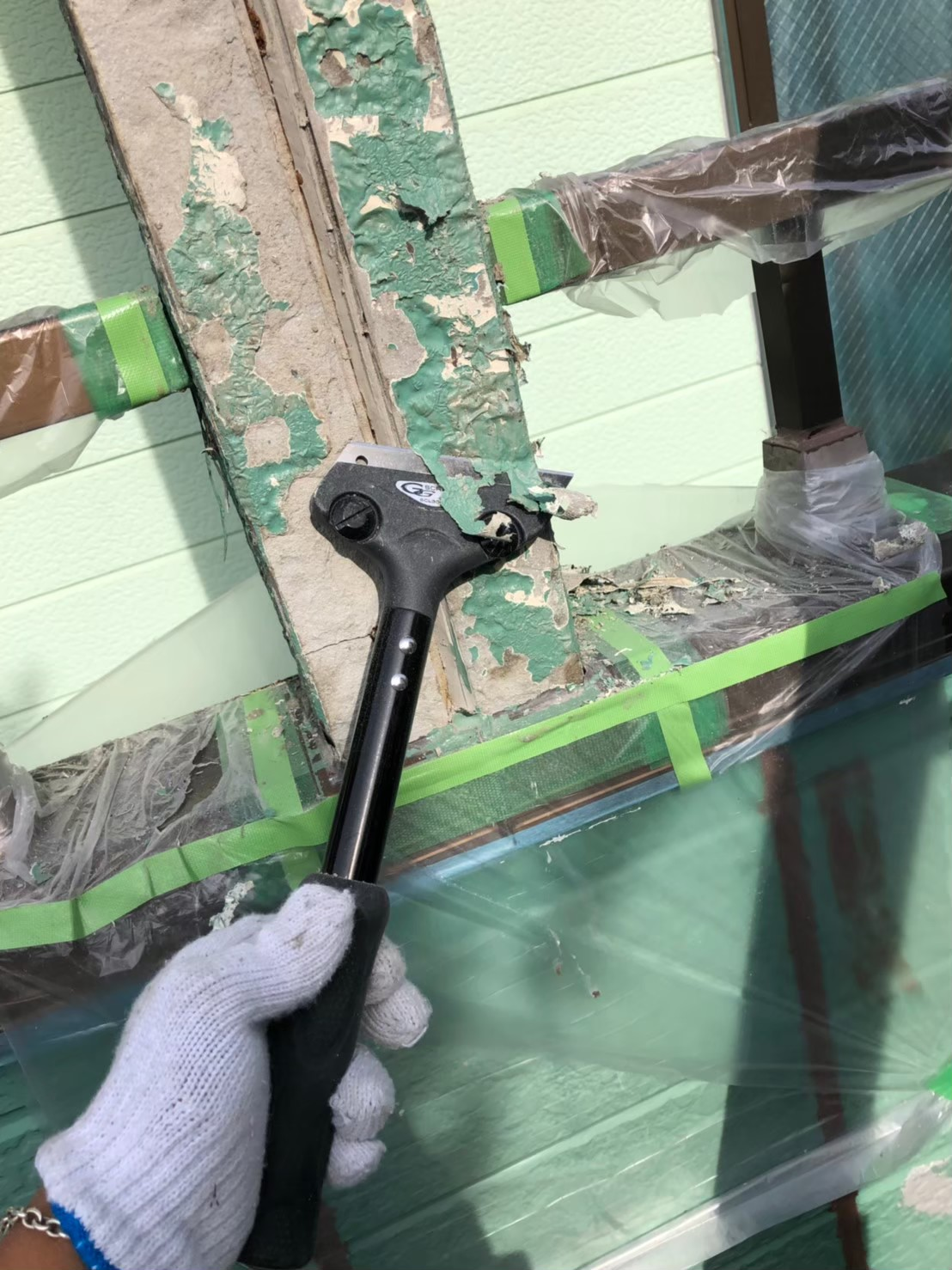 旧塗膜剥がし施工の画像