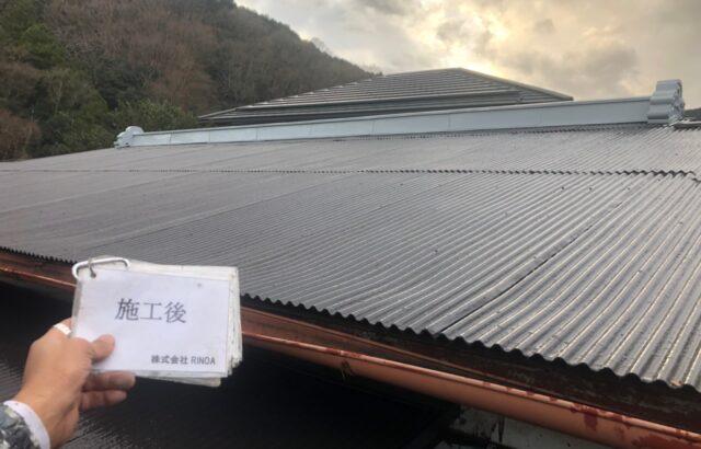 神奈川県平塚市 トタン屋根塗装 ロックペイント:ユメロックルーフ