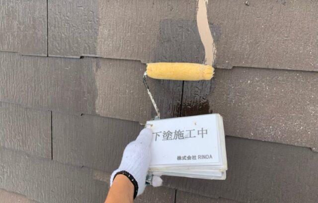 屋根下塗り塗装の画像