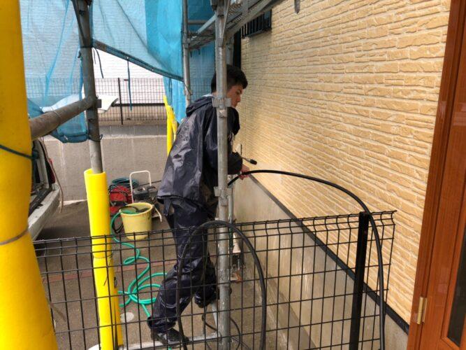 外壁高圧洗浄の画像