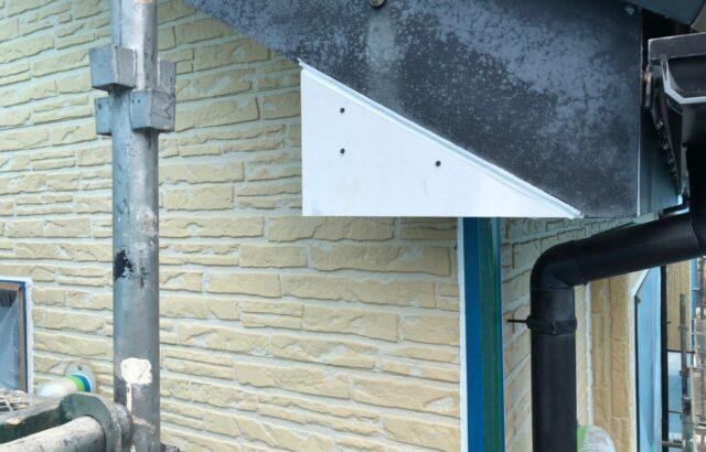 破風板の補修の画像